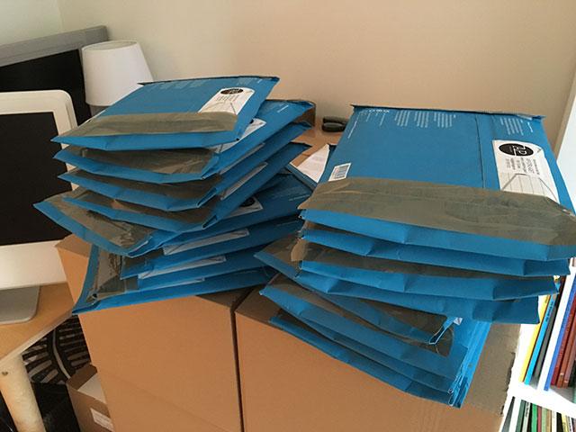 Paketering av dagens beställningar